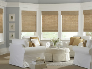 Bamboo White Shades